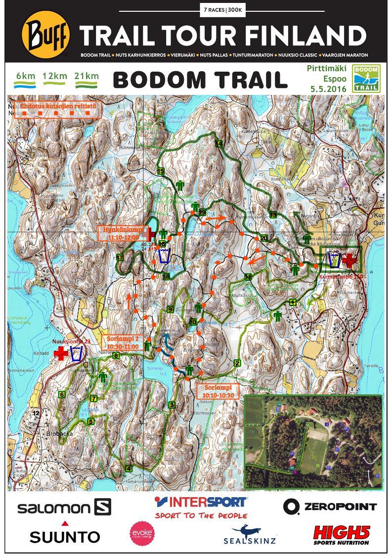 Bodom trail kartta yleisolle
